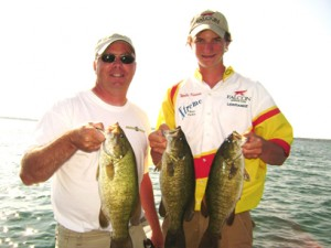 Ken and his son, Wells Kaiser had a good day on the Mile Roads. Xtreme Bass Tackle Formula G3 rocked on this trip.