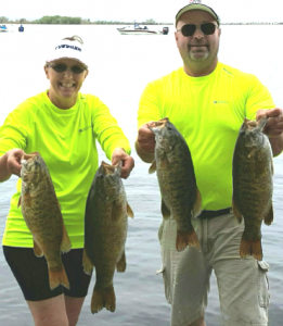 Bob and Jackie Mann show us some MonsterQuest bass