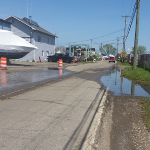 Lake St Clair Harley Ensign Launch Open With Puddles May 2020